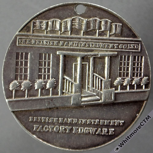 Edgware British Band Instrument Factory souvenir Medal 32mm Silver