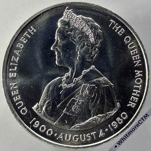 1980 Falkland Islands Queen Mother Crown - 50 Pence rev