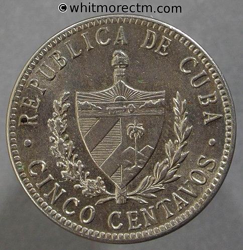 1946 Cuba 5 Centavos coin Y5b