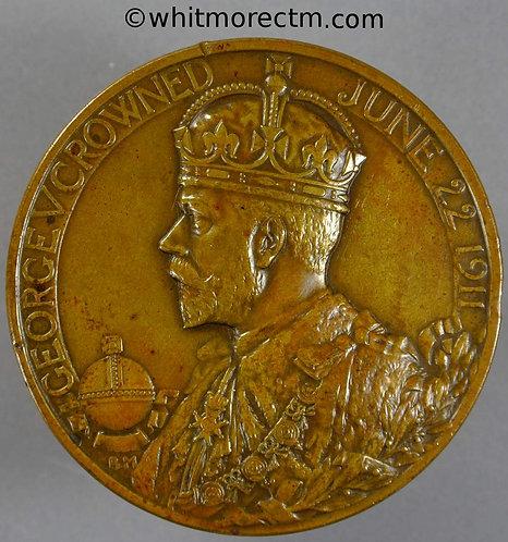1911 Official issue Coronation Medal obv 51mm B4022 By Bertram Mackennal - Bronze