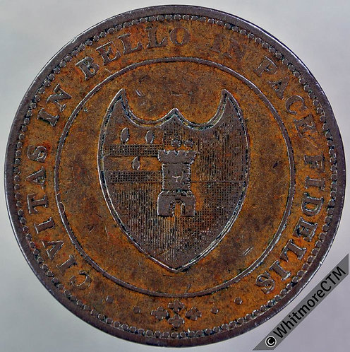 19th Century Penny Worcester 1242 1811 Arms of City / Value in wreath.
