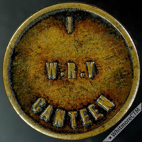 Armed Forces Token W.R.V. Canteen / 1D in elaborate border 24mm Brass