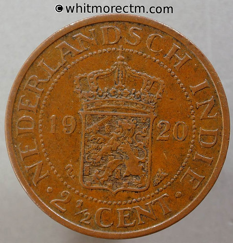 1920 Netherlands / Dutch East Indies Y20 2½ Cents