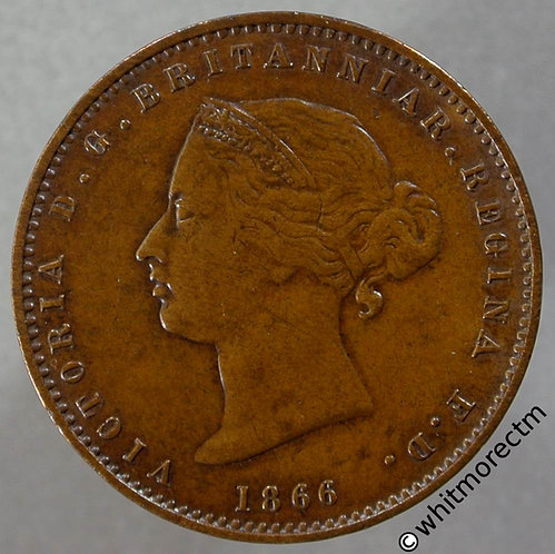 1866 Jersey one twenty sixth of a Shilling 1/26th obv
