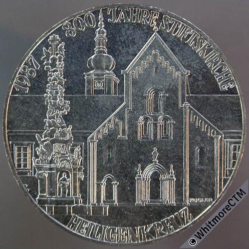 1987 Austria Crown - 500 Schilling Holy Cross Church KM# 2983. Silver Select
