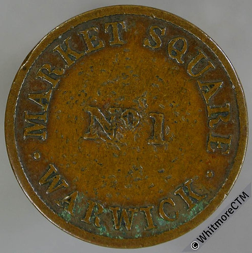Unofficial Farthing Token Warwick 5020 I.M.Taylor's Cheap Clothing. Very rare