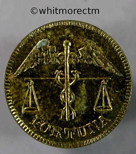 Model Coin Card Counter Fortuna - Spiel Mark 14mm Brass
