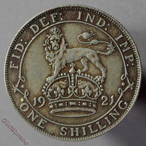 1921 British Shilling George V  D1809 5+E
