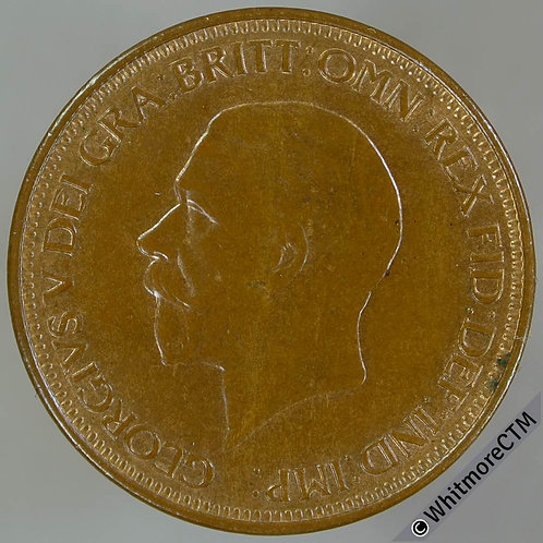 1929 Bronze Halfpenny George V - 30% Luster