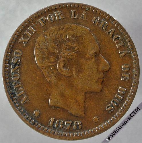1878 Spain 5 Centimos obv