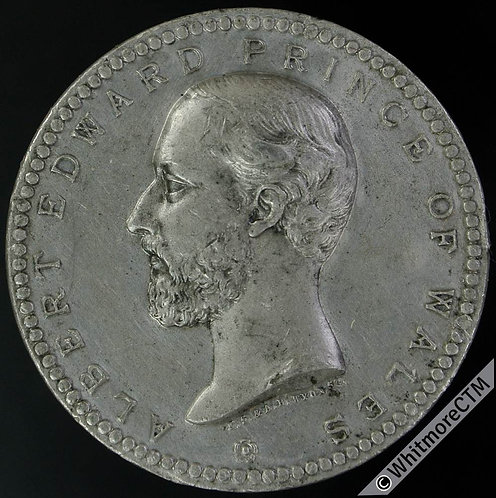 1872 Recovery of Prince of Wales Medal 30mm B2931 White metal - Very Rare