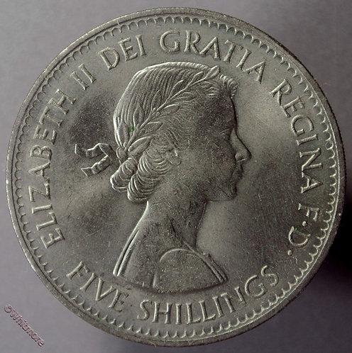 1960 British Crown Coin Elizabeth II - obv