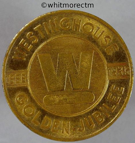 1886 - 1936 USA Westinghouse Refrigerators Golden Jubilee token 32mm Gilt Bronze