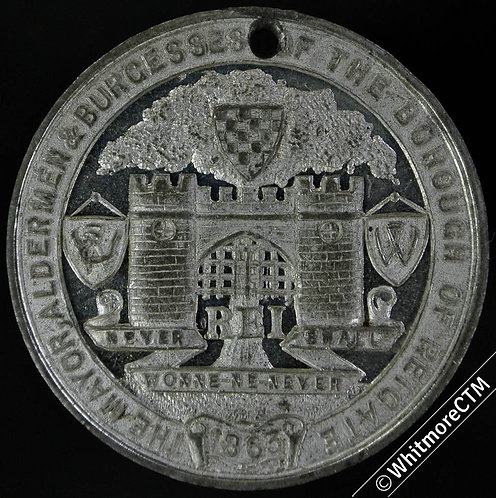 1913 Reigate 50th Anniv. of Incorporation Medal 32mm Not in Brown. WM