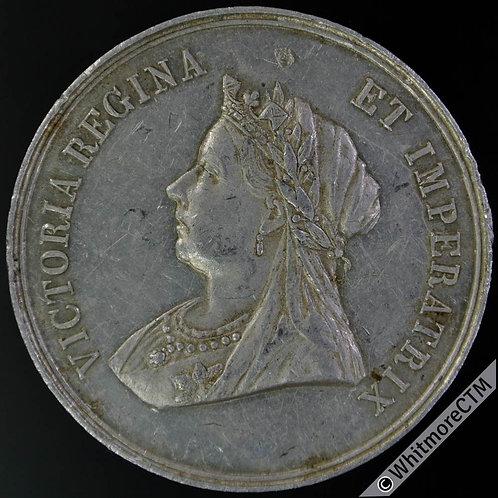 1901 Death of Queen Victoria Medal 38mm B3692 In Memoriam etc. Aluminium