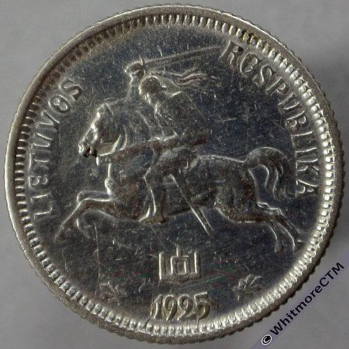 1925 Lithuania 1 Litas obv - Silver