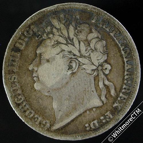 1825 British Shilling George IV 1/-