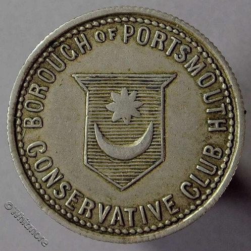 Portsmouth Pub / Inn Token Conservative Club Beaconsfield-Imperium et Libertas