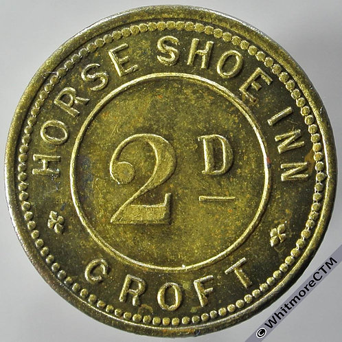 Croft Lancashire Inn / Pub Token 2D Horse Shoe Inn. Uniface