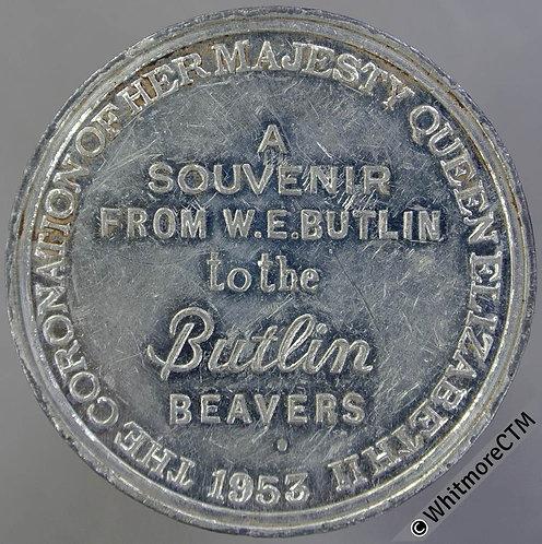 1953 Queen Elizabeth II Coronation Medal - Butlins Beavers WE8120B W.M.