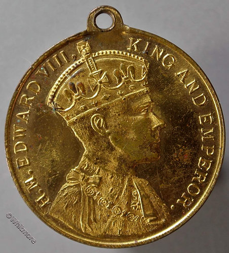 1937 Coronation Medal obv Edward VIII 32mm Crowning ceremony as WE6570I but smaller