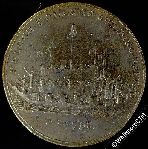18th Century Penny Gosport 3 1798 Britain Triumphant. proof-like Lustre Trace