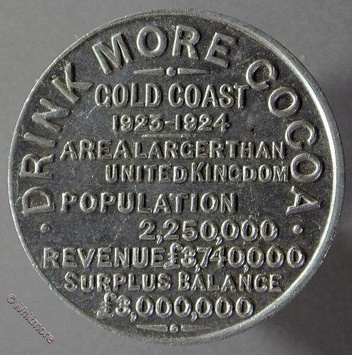 Australia Token 1923-24 Drink more Cocoa 32mm - aluminium