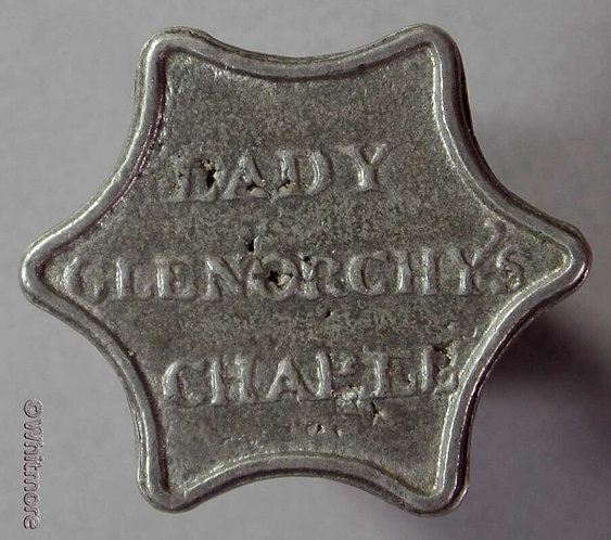 Communion Token Edinburgh Lady Glenorchy's Chapel 24mm Concave hexagonal