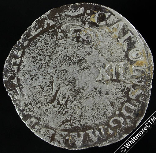 Hammered Shilling Charles I - Type 3a MM Tun S2791