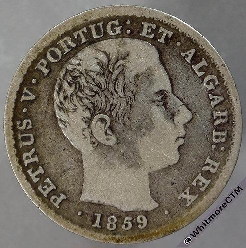 1859 Portugal 500 Reis obv