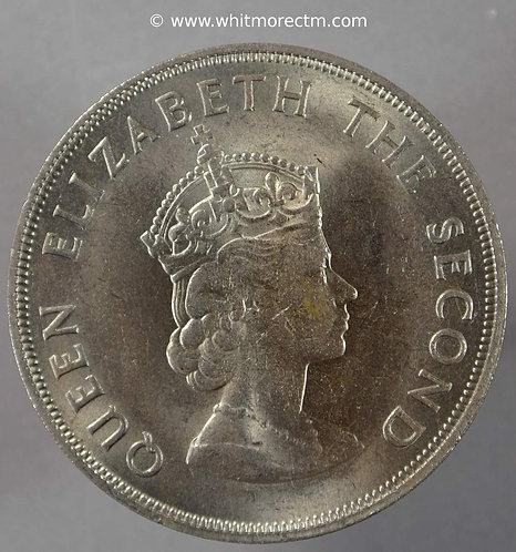 1966 Jersey Crown 5/- Five Shilling coin obv Norman Conquest
