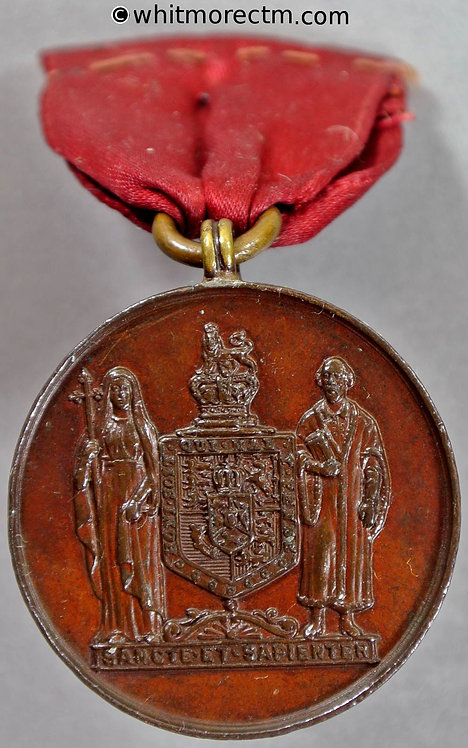 London 1905 Strand School Kings College Medal 29mm To W Brown - bronze