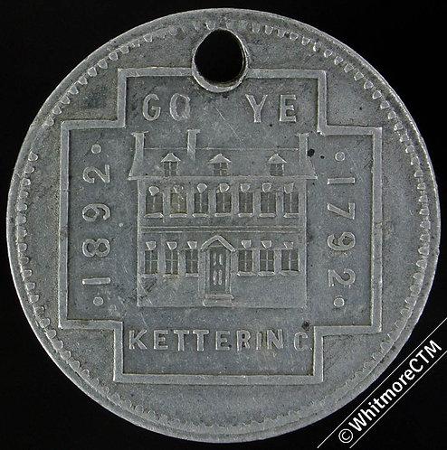 1892 Kettering Baptist Mission Centenary Medal 28mm WM.Carey Bible - Aluminium
