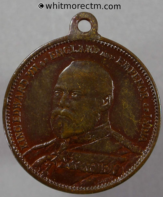 1901 Accession of Edward VII Medallion 24mm WE4013A Bronze with suspender