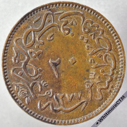 1864 Turkey 20 Para