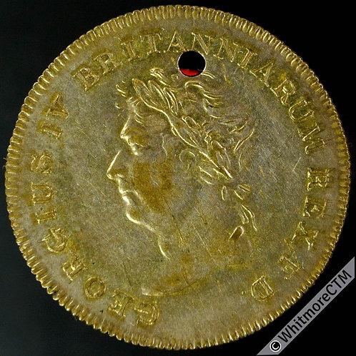 1822 Visit of George IV to Scotland Medal 26mm B1195 Gilt bronze Pierced