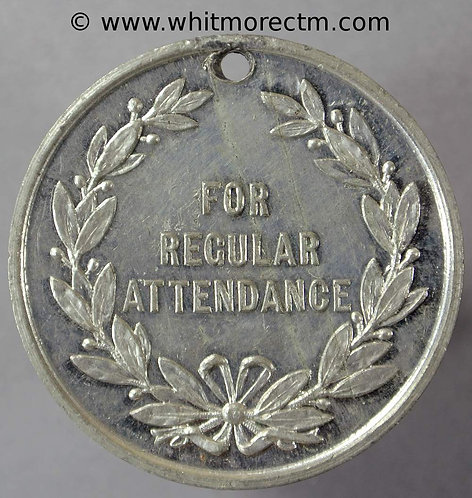 Folkestone School regular attendance Medal 32mm White Metal D705
