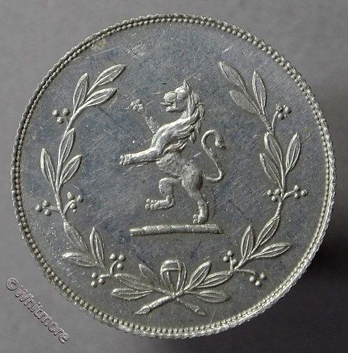 24mm Value Stated Token 1921 Lion rampant in laurel 6D Aluminium