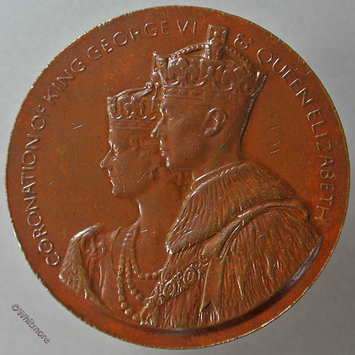 London Mayfair Hotel Berkeley Sq 1937 Coronation George VI Medal 44mm WE7342E