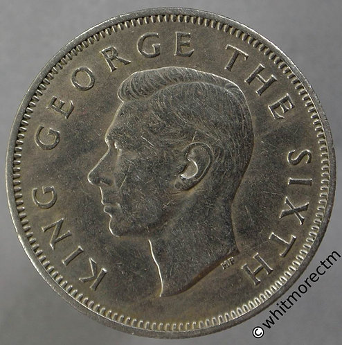 1948 New Zealand Florin 2/- George VI obv