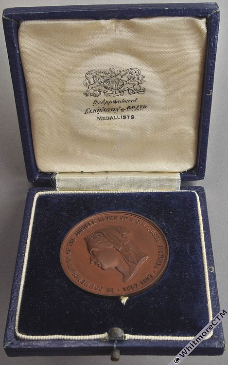 1887 Queen Victoria Jubilee Medal 38mm B3265 By J.Moore. - Bronze