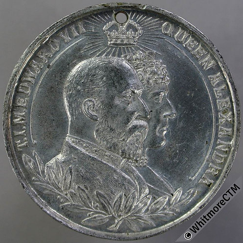 Guildford 1902 Coronation Medal 39mm WE4165K Pewter