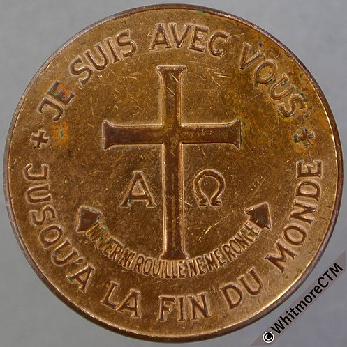 1968 French Christmas / religious token 30mm Bronze