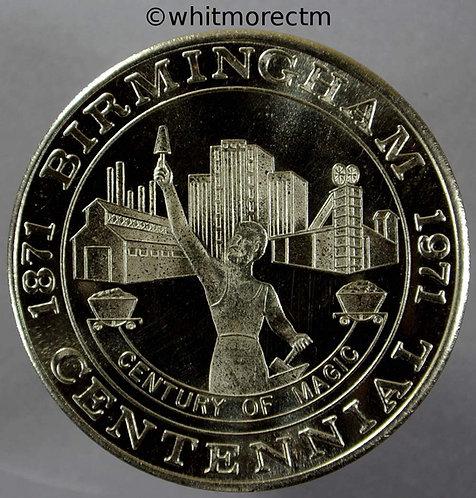 1972 USA Birmingham Alabama Centennial 1871-1971 Medal statue of Vulcan C-N