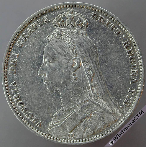 1889 Victoria Jubilee Large Head Shilling