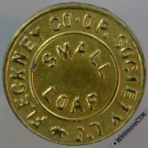Fleckney Leicestershire Co-Operative Society Token 25mm Small loaf.
