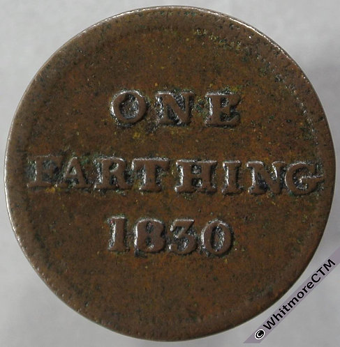 Unofficial Farthing Glasgow 7380 1830 Retailers token
