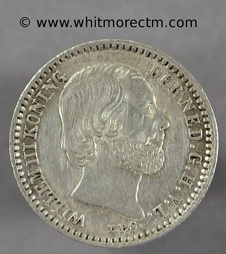 1885 Netherlands 10 Cents Y7 - Silver