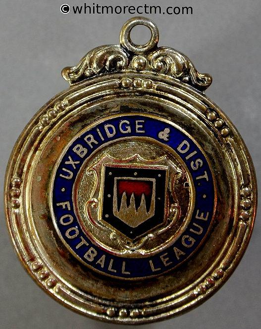 Uxbridge 1956 District Football League Medal 28mm Div. 1 Runners-up