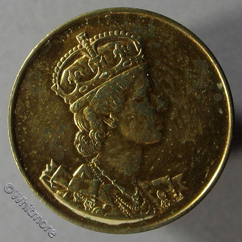 1953 Coronation Medal obv 21mm As B4436 but unrecorded in this size - gilt Bronze